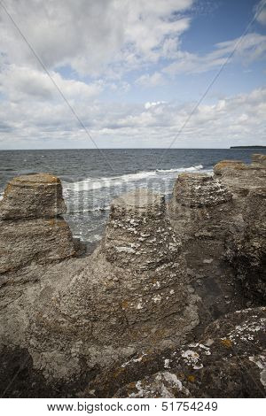 Eroded limestone formations
