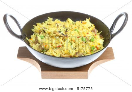 Indian Mushroom Fried Rice