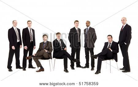 Group of management people isolated on white background