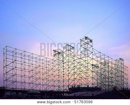 Large Stage Construction For Outdoor Concert