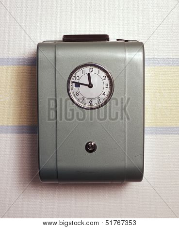 Retro Time Clock on the wall