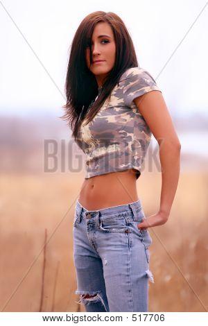Pretty Native American Woman