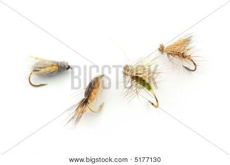 Four Caddis Trout Flies