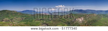 Panorama Of The Sicilian Hillscape