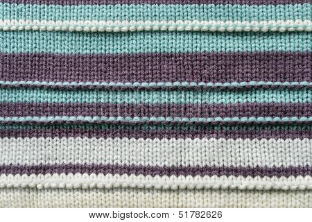 Knitwear texture with horizontal trips as a background poster