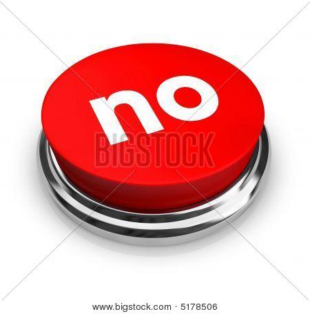 Não - botão vermelho