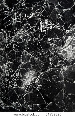 close up of the broken glass texture poster