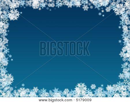 Snowflake Christmas Frame