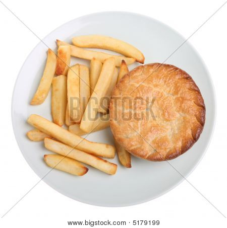 Chicken Pie & Chips