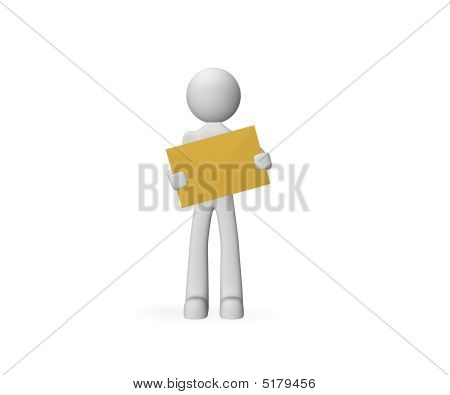 3D Person Carrying The Mail