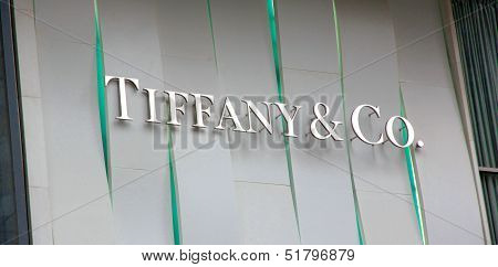 Tiffany Store Sign