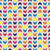 Aztec Chevron seamless vector colorful vector pattern, texture or background with zigzag stripes. Thanksgiving background, desktop wallpaper or website design element poster
