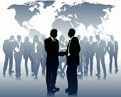 business partners and a international business team poster
