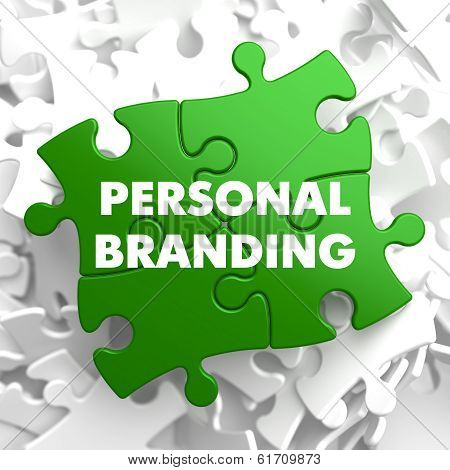 Personal Branding on Green Puzzle.