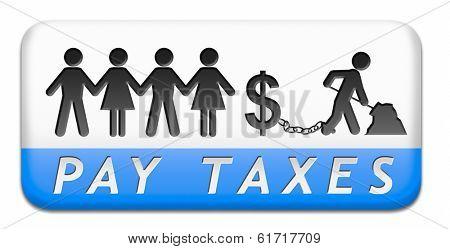 pax taxes button or icon
