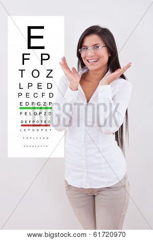 Jubilant Lady With New Glasses