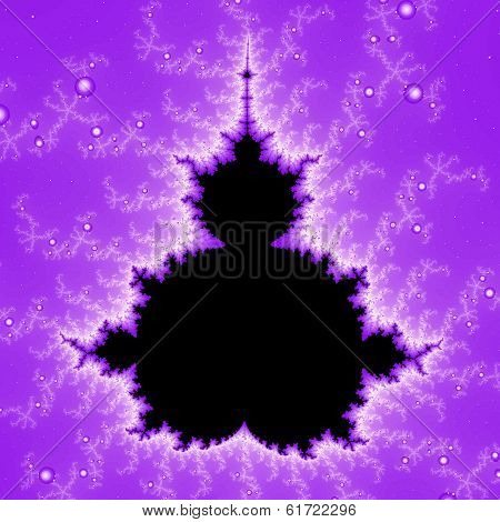 Purple lightning Mandelbrot set.