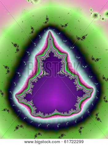 Purple paisley Mandelbrot set.