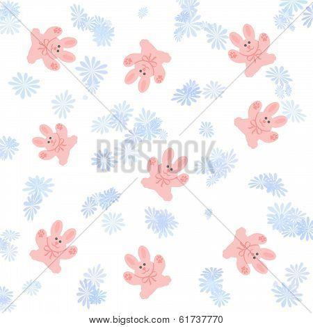 pink bunny scrapbook