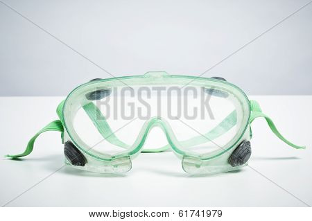 Do It Yourself Safety Goggles Isolated On White Background