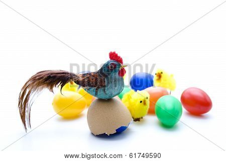 Easter chicken with Easter fledgling