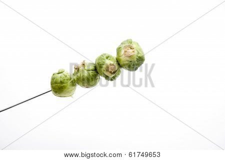Fresh speared Green Brussels Sprout