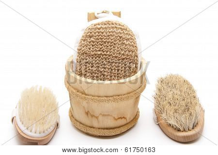 Massage sponge with back brush