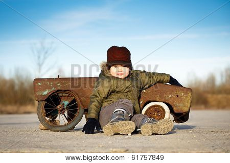 Boy And Toycar, Concept Of Men And Cars