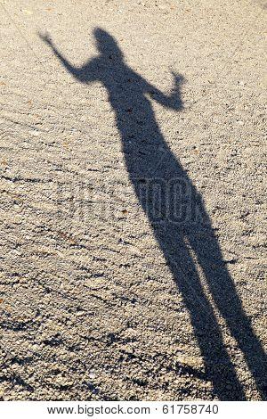Shadow of woman performing Yoga