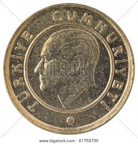 10 Turkish Kurus Coin, 2011, Face