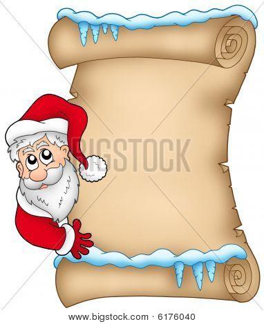 Winter Pergament mit Santa Claus 1