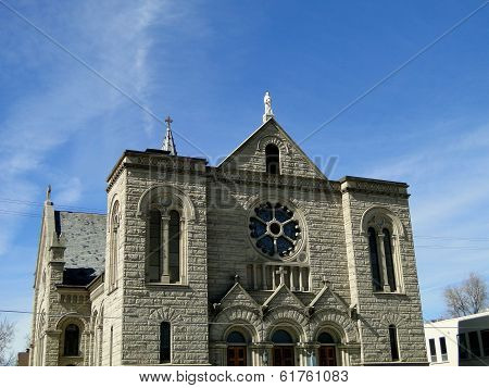 St. John the Evangelist Catholic Cathedral was constructed in Boise between 1905 and 1921 and the Romanesque Revival style building is a well known Idaho landmark. poster