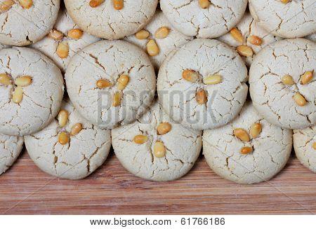 homemade fresh tahini cookies