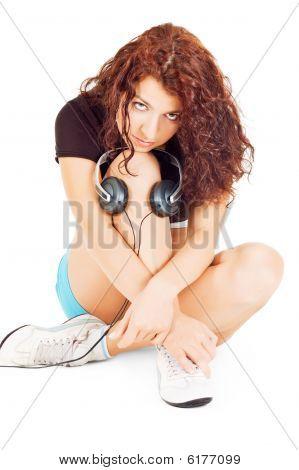 Beautiful Woman With Headphones
