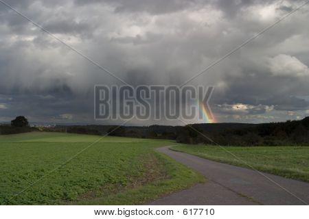 Rainstorm And Rainbow
