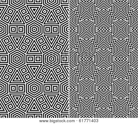 Set of Two Seamless Patterns. Rasterized Version