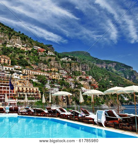 luxury vacation in Amalfi coast, Italy, Positano