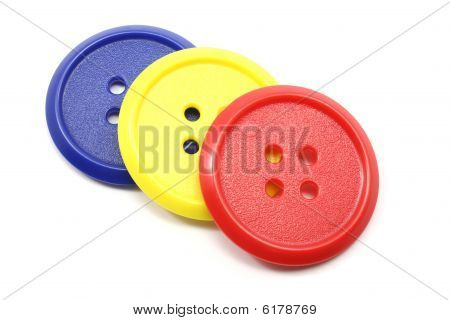 Large Red, Yellow, And Blue Buttons