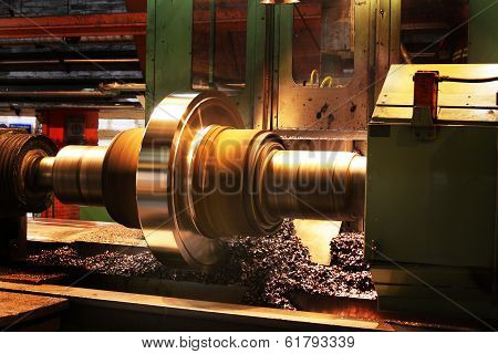 Turning rolling mill roll.