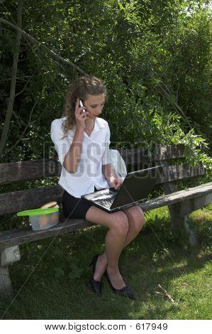 Businesswoman; Lunch Break