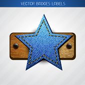vector jeans and leather star label design poster