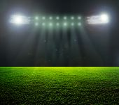 On the stadium. abstract football or soccer backgrounds  poster
