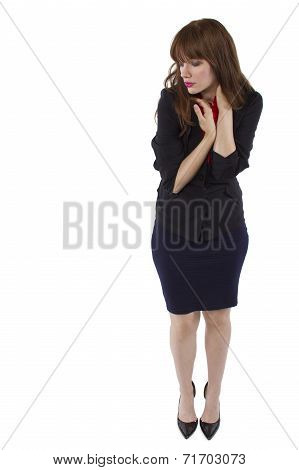 Businesswoman on White BG