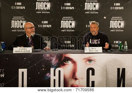 MOSCOW, RUSSIA, SEPTEMBER, 9: Director Luc Besson. Premiere of the movie