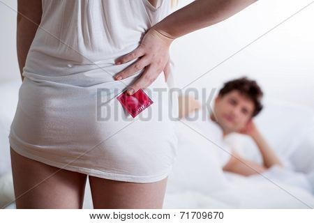 Girl With Condom Before Sex