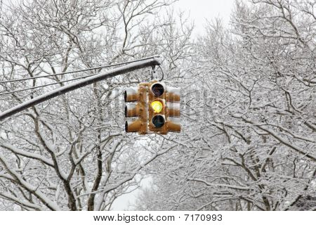 Yellow Traffic Lightlight