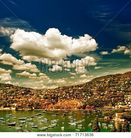 View Of Luxury Resort. French Riviera, Mediterranean Sea