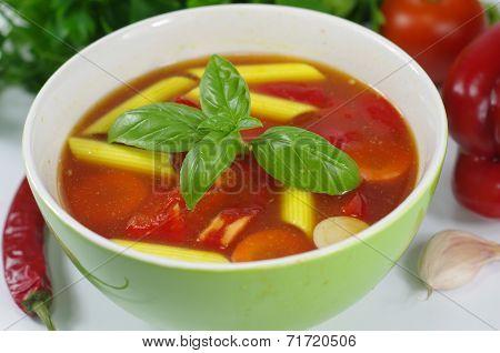 Appetizing Gulash Soup