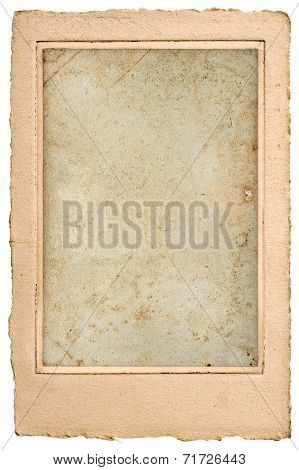 Old Blank Photo Post Card With Frame