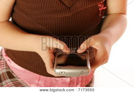 Young girl using Cellphone